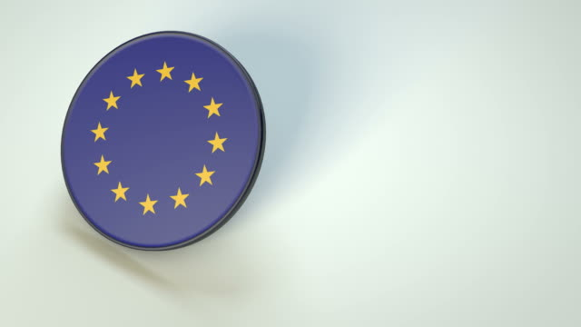 european union spinning coin disk - european union coin stock videos & royalty-free footage