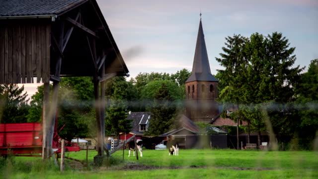 crane up: european village - crane shot stock videos & royalty-free footage