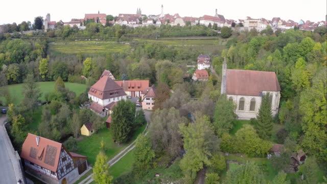 european-style houses in rothenburg ob der tauber, bavaria / germany - dorf stock-videos und b-roll-filmmaterial