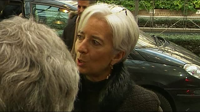 stockvideo's en b-roll-footage met europe's finance ministers met sunday to thrash out details of ireland's 85billioneuro bailout but france's representative said they were still... - financieel item