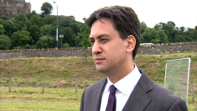 ed miliband interview; scotland: stirling: ext ed miliband mp interview sot - now clear that david cameron and the conservative pary pose a real and... - stirling stock videos & royalty-free footage