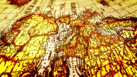 vidéos et rushes de europe la carte du monde - antiquités