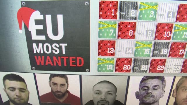 europol releases an advent calendar of the eu's most wanted criminals most recently featuring a famous french murderer - advent calendar stock videos & royalty-free footage