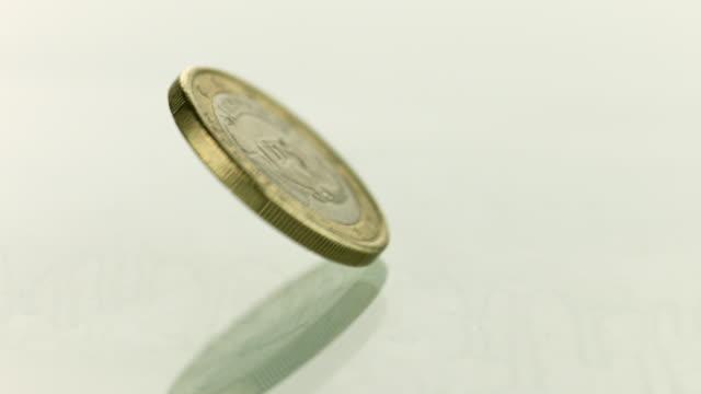 stockvideo's en b-roll-footage met eurospin - european union coin