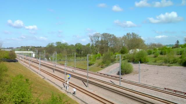 WS Eurostar high speed train heading towards london / Ashford, Kent, United Kingdom