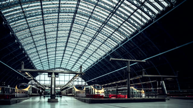 Eurostar terminal at St Pancras Railway Station, London