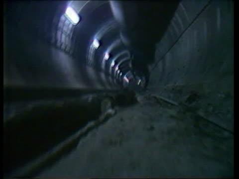 Eurotunnel chairman TRACK empty tunnel entrance