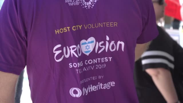 eurovision hasn't declared its winner yet but tourists in israel for the competition were declaring host tel aviv very welcoming with officials... - eurovision song contest stock videos & royalty-free footage
