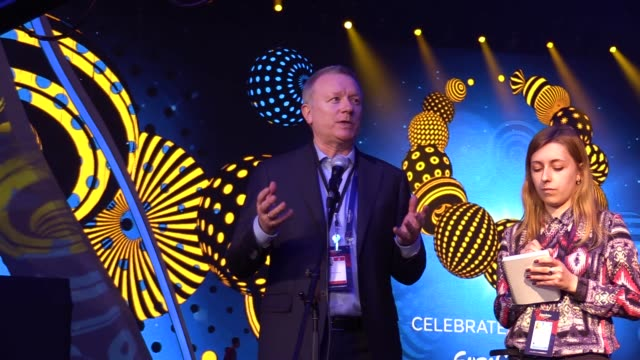 eurovision song contest executive supervisor jon ola sand speaks with media as he inspects the preparations for the eurovision song contest inside... - ukraine stock-videos und b-roll-filmmaterial