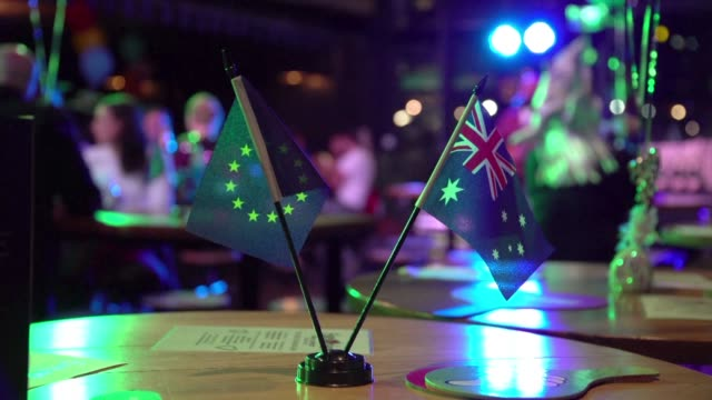 eurovision song contest fans gather in melbourne to celebrate the musical show and support their own contestant australian singer jessica mauboy - eurovision song contest stock videos & royalty-free footage