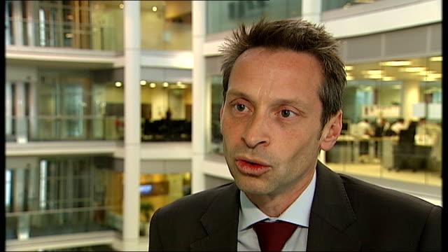 bank of england governor warns of possible collapse of euro england london gir chris williamson interview sot - ギールフォーレスト国立公園点の映像素材/bロール