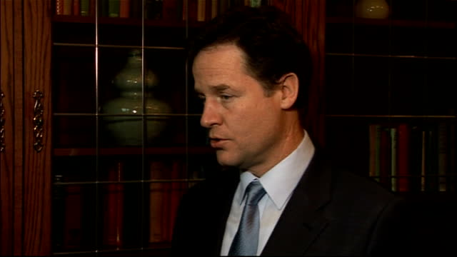 Nick Clegg condemns government decision to reject Eurozone deal 9122011 London Nick Clegg MP interview SOT I regret that the outcome of the summit...