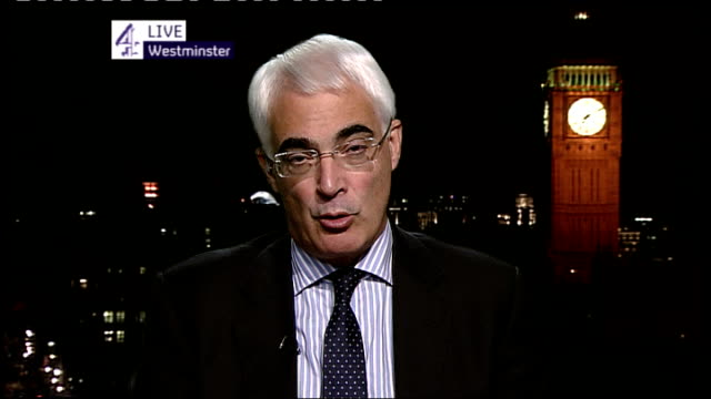talks continue in brussels; belgium: brussels: int alistair darling mp live 2-way interview from london sot - we were led to believe today was day... - 12 17 months stock videos & royalty-free footage