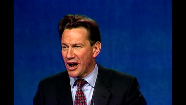 UK isolated after EU summit veto / BSP121094019 Michael Portillo MP speech to Conservative Party Conference SOT stop the rot from Brussels
