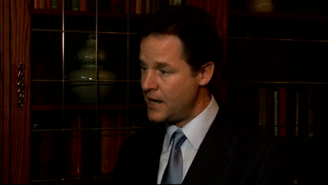 UK isolated after EU summit veto Nick Clegg reaction ENGLAND South Yorkshire Sheffield INT Nick Clegg MP interview SOT I regret the outcome of the...