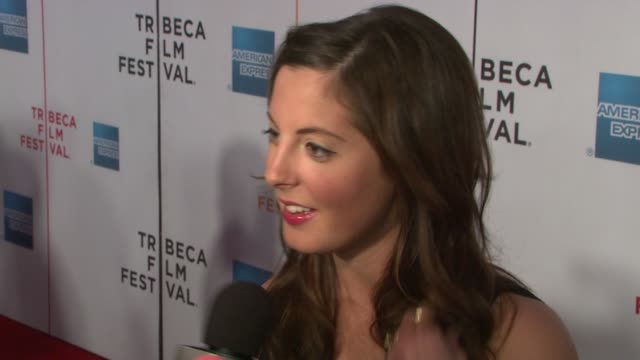 eva amurri at the speed racer premiere at the 7th annual tribeca film festival at borough of manhattan community college / tribeca performing arts in... - community college stock videos & royalty-free footage