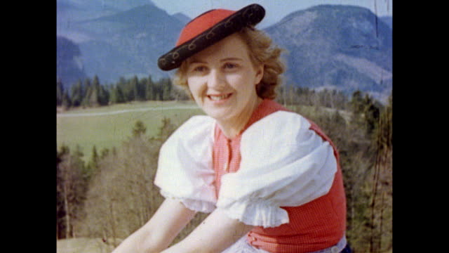 eva braun with chief treasurer of the nazi party franz x schwarz and his wife / eva flirting with schwarz, kissing him / eva acting flirtatious with... - adolf hitler stock videos & royalty-free footage