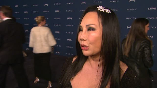 eva chow on what she is looking forward to this evening, talks about this years honorees & sting and what the future holds for lacma art + film at... - 2013 stock videos & royalty-free footage
