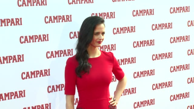 Eva Green and Bob KunzeConcewitz at Campari Calendar press launch on 5th November 2014 in London England