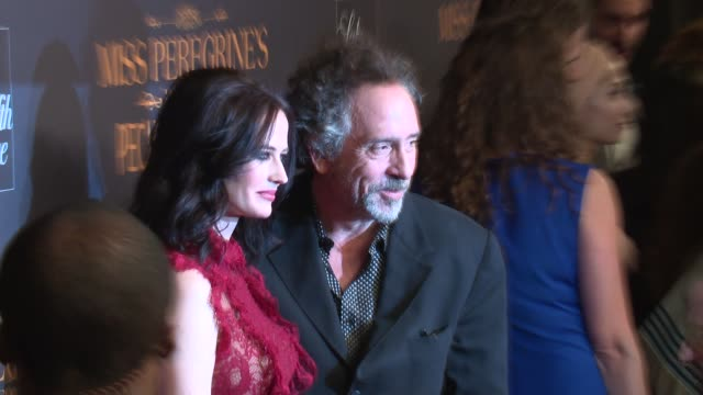 Eva Green and Tim Burton at Miss Peregrine's Home For Peculiar Children New York Premiere at Saks Fifth Avenue on September 26 2016 in New York City
