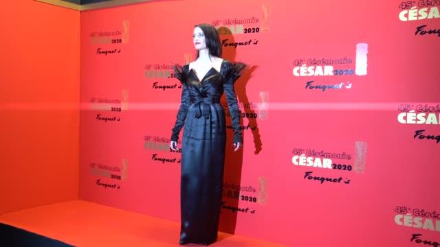 vidéos et rushes de eva green attends the dinner at le fouquet's, as part of the cesar film awards 2020, on february 28, 2020 in paris, france. - cesar
