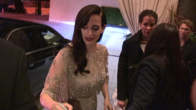 Eva Green greets fans while entering the 300 Rise Of An Empire After Party in Hollywood on March 04 2014 in Los Angeles California