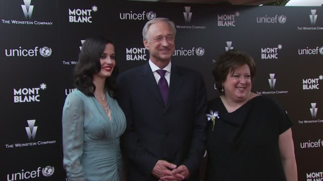 Eva Green Lutz Bethge Caryl Stern at the Montblanc Charity Cocktail hosted by The Weinstein Company to benefit UNICEF at Soho House at West Hollywood...
