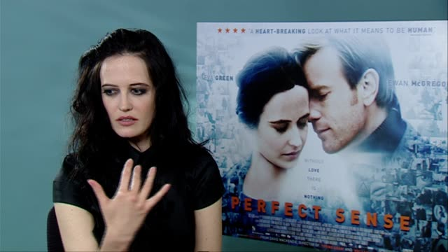 Eva Green on David MacKenzie what he's like rehearsing with him french cinema at the Perfect Sense Interviews at London England