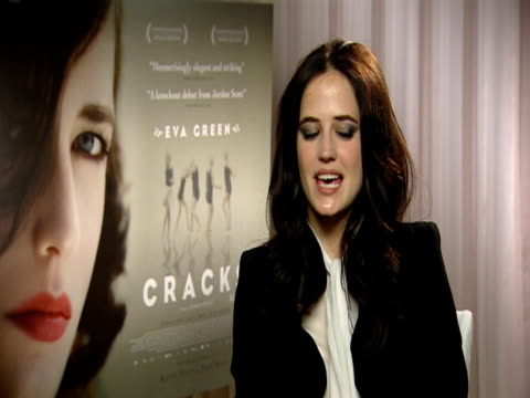 Eva Green on how she doesn't like cliched characters on how she likes strong characters but always likes cracks at the Cracks Interviews at London...