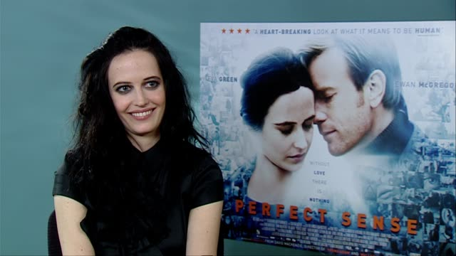 Eva Green on knowing what was coming Ewan McGregor's dark side at the Perfect Sense Interviews at London England
