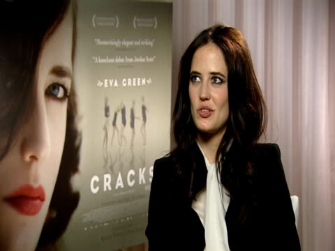 Eva Green on the character of Miss G and how she's theatrical over the top and confident but how she's made of glass and fragile and how it was a...