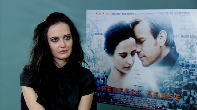 Eva Green on the films soundtrack at the Perfect Sense Interviews at London England