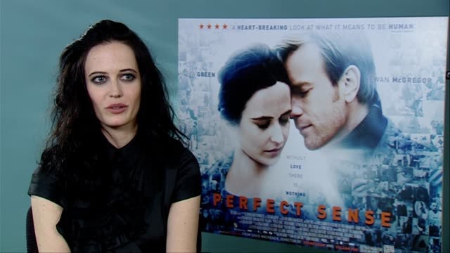 Eva Green on the script it being very romantic on the film being a love story the tone at the Perfect Sense Interviews at London England