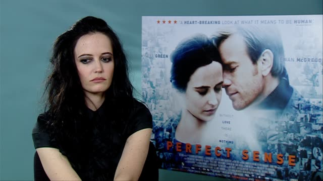 Eva Green on what for her the film is about it being a positive film at the Perfect Sense Interviews at London England