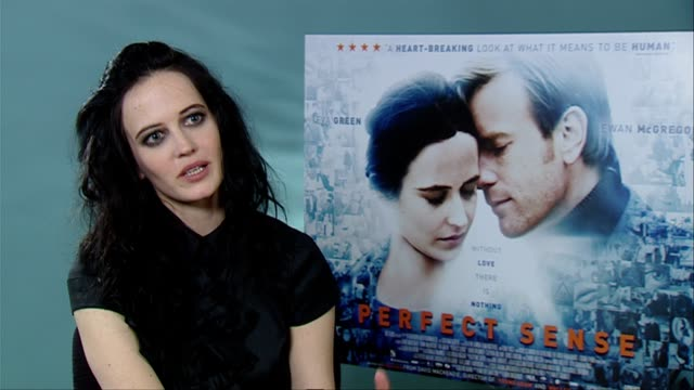 Eva Green on what the film is about falling in love love at the Perfect Sense Interviews at London England