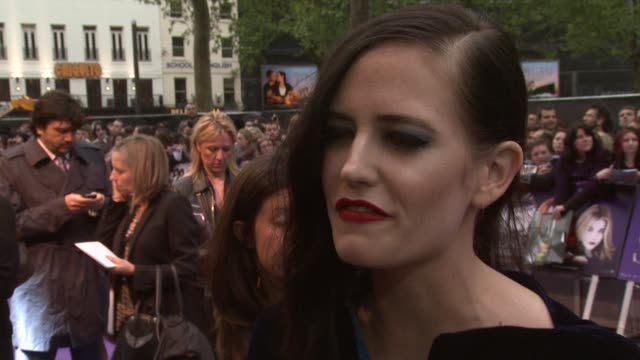 Eva Green on who the best kisser between Johnny Depp and Daniel Craig Tim Burton's style and being a fan watching the original series at Dark Shadows...