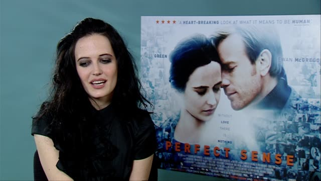 Eva Green on working with Ewan McGregor what he's like at the Perfect Sense Interviews at London England