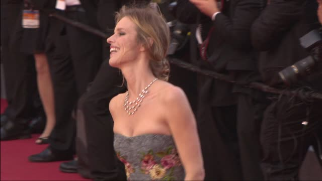 eva herzigova at 'two days, one night ' red carpet at palais des festivals on may 20, 2014 in cannes, france. - cannes stock videos & royalty-free footage