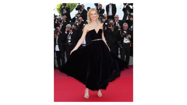 Eva Herzigova on the 'Ash Is The Purest White ' red carpet during the 71st Cannes Film Festival on May 8 2018 in Cannes France