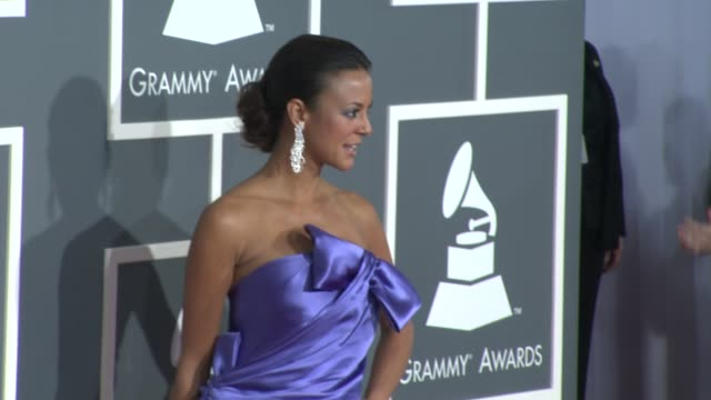 eva la rue at the 51st annual grammy awards part 5 at los angeles ca - eva larue stock videos and b-roll footage