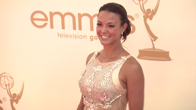 eva la rue at the 63rd primetime emmy awards arrivals part 1 at los angeles ca - eva larue stock videos and b-roll footage