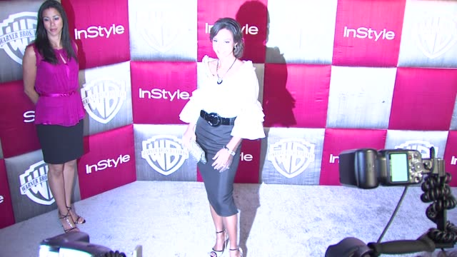 eva la rue at the instyle 2009 golden globes after party part 2 at los angeles ca - eva larue stock videos and b-roll footage
