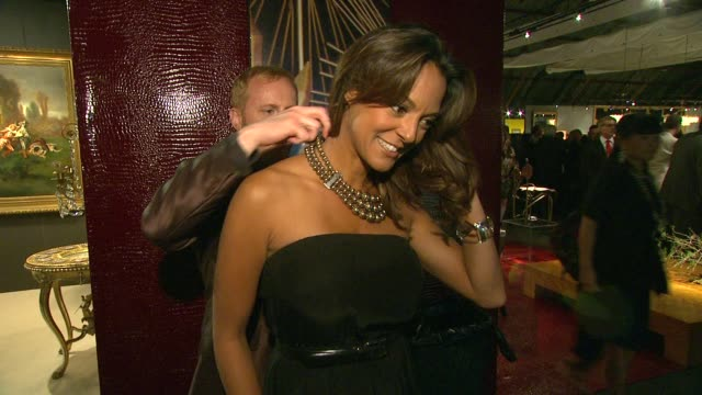 eva la rue at the opening night preview party of the la antique show benefiting ps arts at santa monica ca - eva larue stock videos and b-roll footage