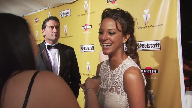 eva la rue at the the weinstein company golden globe awards afterparty at beverly hills ca - eva larue stock videos and b-roll footage