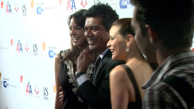 eva la rue george lopez constance marie at the 30th annual the gift of life celebration at beverly hills ca - eva larue stock videos and b-roll footage