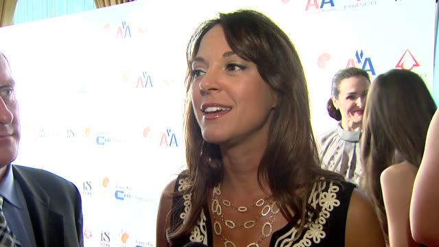 eva la rue on attending tonight's event on the importance of events that help raise awareness about a disease and on what they're looking forward to... - eva larue stock videos and b-roll footage