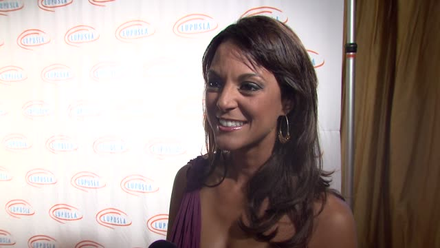 eva la rue on hosting the event the event's goal the economy's impact on charity at the 9th annual lupus la orange ball at beverly hills ca - eva larue stock videos and b-roll footage