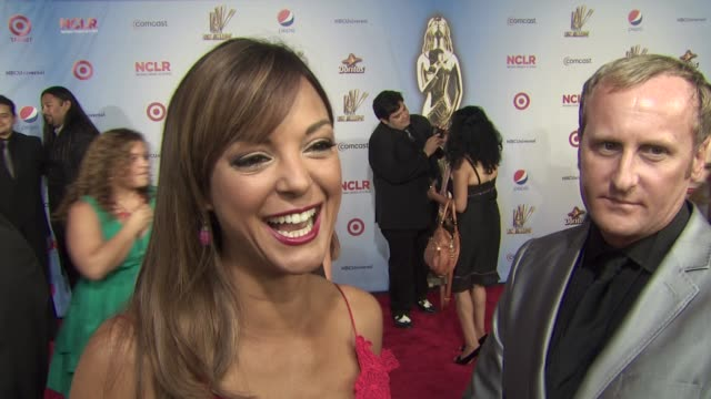 eva la rue on how she feels to be at the alma awards what it means to have the alma's support her and her cast mates who she is looking forward to... - eva larue stock videos and b-roll footage