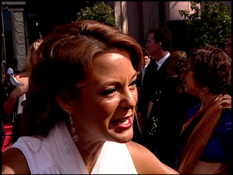 eva la rue on the excitement of being at the emmys the experience of working on 'csi miami' and the contents of her purse at the 2007 emmy awards red... - eva larue stock videos and b-roll footage