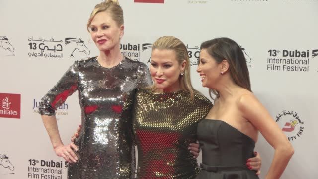 eva langoria anastacia and melanie griffith at 2016 dubai international film festival day 5 at madinat jumeirah on december 11 2016 in dubai united... - day 5 stock videos & royalty-free footage
